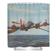 Coming Home - Boeing B-17 Flying Fortress Shower Curtain
