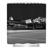 Flying Fortress On The Ramp Shower Curtain