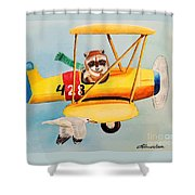 Flying Friends Shower Curtain