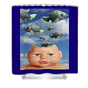 Flying Head Fish Shower Curtain