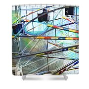 Flying Inside Ferris Wheel Shower Curtain