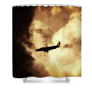 Flying Into The Storm Shower Curtain