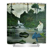 Flying Into Your Arms Shower Curtain