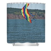 Flying Kite Shower Curtain