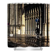 Flying On Rails Shower Curtain