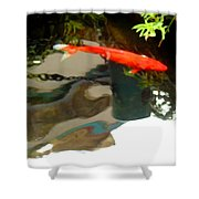 Flying On The Surface Shower Curtain
