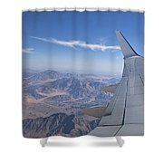 Flying Over Mount Sinai Shower Curtain