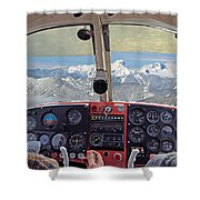 Flying Over North Cascades Shower Curtain