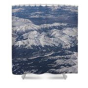Flying Over The Snow Covered Rocky Mountains Shower Curtain