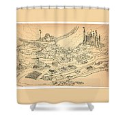 Flying Polly Over Capira Shower Curtain