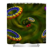 Flying Rings  Shower Curtain