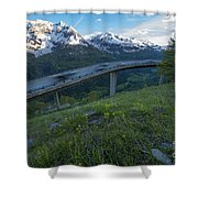 Flying Road Shower Curtain