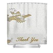 Flying Ruffed Grouse Thank You Shower Curtain