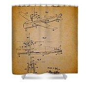 Flying Submarine Patent Shower Curtain