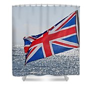 Flying The British Flag Shower Curtain
