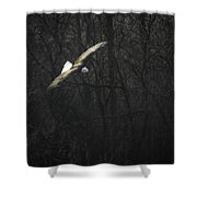 Flying The River Shower Curtain