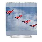 Flying The Union Jack Shower Curtain