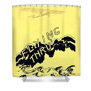 Flying Thru Shower Curtain