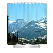 The Way To The Alps Shower Curtain