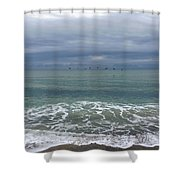 Flying Weather Shower Curtain
