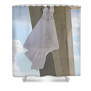 Flying Wedding Dress 1 Shower Curtain