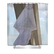 Flying Wedding Dress 2 Shower Curtain