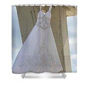 Flying Wedding Dress 3 Shower Curtain