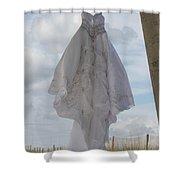 Flying Wedding Dress 4 Shower Curtain