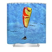 Flying With Birds Shower Curtain