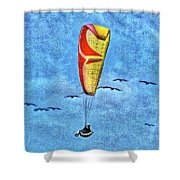 Flying With The Birds Shower Curtain