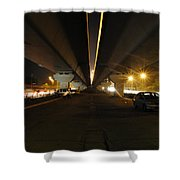 Flyover And A Car Shower Curtain