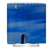 Flyover One World Trade Center Shower Curtain