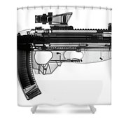 Fn Fs 2000 X-ray Photograph Shower Curtain