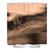 Foam Tank A Fire Engine Number Four Shower Curtain by Bob Orsillo