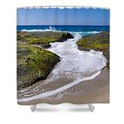 Wave Receding Shower Curtain