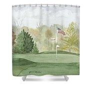 Focus On The Flag Shower Curtain