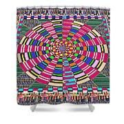 Focus Target Yoga Mat Chakra Meditation Round Circles Roulette Game Casino Flying Carpet Energy Mand Shower Curtain