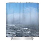 Fog Advances On The Oregon Coast Shower Curtain