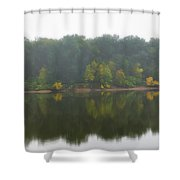 Fog Along The River Shower Curtain