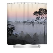 Fog At Dawn Shower Curtain