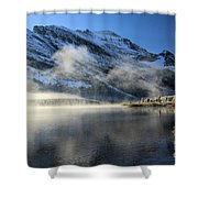 Fog At Swiftcurrent Shower Curtain