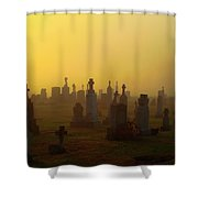 Looks Like Halloween Morning Scene Shower Curtain