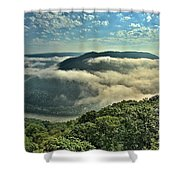 Fog In The Grand View Valley Shower Curtain