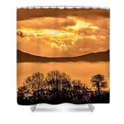 Fog In The Valley Shower Curtain