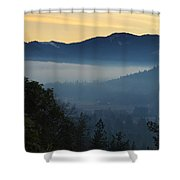Fog Invades The Evans Valley Shower Curtain
