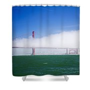 Fog On The Bridge Shower Curtain