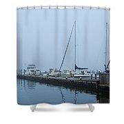 Fog On The Marina - Jersey Shore Shower Curtain