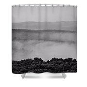 Fog Over Montague Shower Curtain