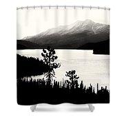 Fog Over The Mountain Shower Curtain