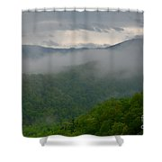 Fog Over The Smokies Shower Curtain